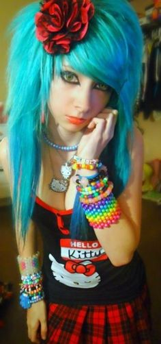 Emo Girls so sexy Cute Scene Girls, Cute Emo Girls, Scene Kids, Diesel Punk, Funky Hairstyles, Pretty Hairstyles, Suicide Girls, Grunge, Emo Scene Hair