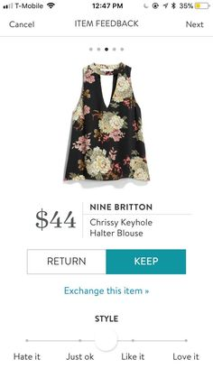 LOVE this top!  Would love it in my fix, hopefully it's not too short.