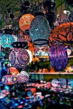 Turkish Mosaic Lamps - Istanbul, Turkey