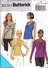 Butterick 5283 Top UC-FF Sewing Pattern Misses szE5 14-22