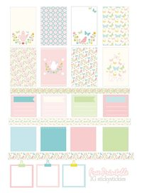 Free printable floral planner stickers: watercolor - ausdruckbare Etiketten - freebie | MeinLilaPark – DIY printables and downloads