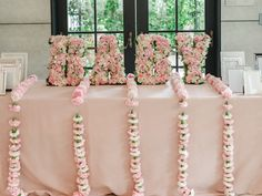 Floral BABY Block Letter Sign from a Vintage Garden Baby Shower on Kara's Party Ideas