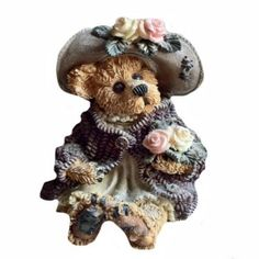 boyds bears figurines | Boyds Bears figurine of a lady bear dressed in old fashioned ...