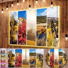 DESIGN ART Designart 'Autumn in Sierra Nevade Collage' Oversized Landscape Photography on Aluminium