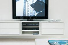 Meuble-TV suspendu Made avec grands-tiroirs escamotables - ARREDACLICK