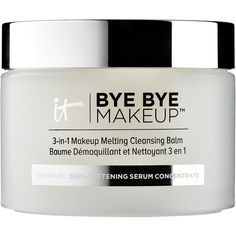 IT Cosmetics Bye Bye Makeup 3-in-1 Makeup Melting Cleansing Balm (€35) ❤ liked on Polyvore featuring beauty products, skincare, face care, face cleansers and it cosmetics