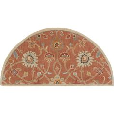 @Overstock - Hand-tufted Trey Traditional Wool Rug (2' x 4' Hearth) - Bring luxury to your home with this traditional area rug. Hand-tufted with wool, this floral designed rug will add a pop of color and the finishing touch to your d�cor.  http://www.overstock.com/Home-Garden/Hand-tufted-Trey-Traditional-Wool-Rug-2-x-4-Hearth/9694764/product.html?CID=214117 $42.49