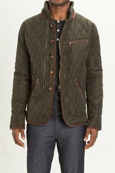 Quilted Nylon Jacket w/ Rib Collar - Paul Rizk - Coats + Jackets : JackThreads