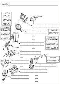 Saber e Saberes: Cruzadinhas com banco de palavras Diagram, Preschool Literacy Activities, Reading Activities, Infant Activities, Even And Odd, Crossword Puzzles, 1st Grades, Index Cards, School