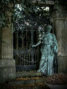 Lady at the gate