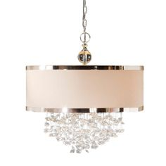 "Fascination 3 Light Hanging Foyer Pendant | Wayfair $572.22 only 7"" chain length"