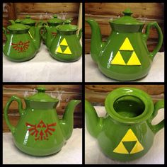 Legend of Zelda Triforce Teapot by thepunknpatch on Etsy |  Nintendo NES Craft