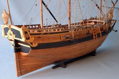 Le Gros Ventre Sailing barge of the King, having participated to the KERGUELEN expedition in 1772 Scale: Size (L x l x h): 109 x 39 x 83 cm Sold Detailed description . Boat Building, Model Building, Mississippi, Wooden Model Boats, Medieval, Ship Of The Line, Pirates Of The Caribbean, Model Ships, Close Image