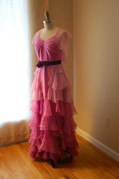 Hermione Granger Yule Ball Dress Gown Replica Costume Silk Commission Harry Potter Pink Blue Chiffon by tavariel on Etsy https://www.etsy.com/listing/168564916/hermione-granger-yule-ball-dress-gown