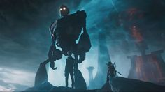"""The Los Angeles Times is reporting that during the Ready Player One panel at Comic-Con, Steven Spielberg declared that the Iron Giant is """"a real . Ready Player One Film, Ready Player One Trailer, Great Movies, New Movies, Avatar, Amblin Entertainment, The Iron Giant, Cinema, Movies"""