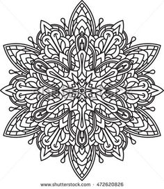Find Abstract Vector Black Round Lace Design stock images in HD and millions of other royalty-free stock photos, illustrations and vectors in the Shutterstock collection. Pattern Coloring Pages, Colouring Pages, Adult Coloring Pages, Coloring Books, Doodle Coloring, Mandala Coloring, Doodle Patterns, Zentangle Patterns, Mandala Drawing