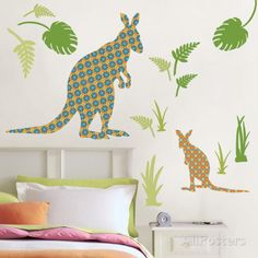 Joey the Kangaroo Wall Art Kit Väggdekal