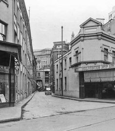 Bulletin Place,Sydney from Pitt St in Bros Ltd founded by William and Henry Silvester one of the founders of small goods manufacturers 🌹 Penal Colony, Blue Mountain, East Coast, The Rock, Cosmic, Worlds Largest, Colonial, Sydney, Past