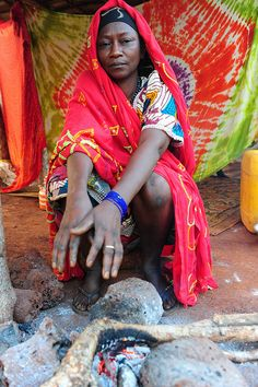 Africa   'Mornings are cold in December'.  Central African Republic   © Luca Gargano.