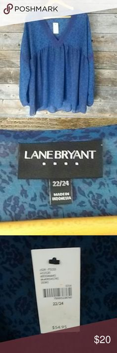 🆕Lane Bryant 22/24 V-neck Sheer Lace Detail Top Lane Bryant 22/24 V-neck Sheer Lace Detail Top. Beautiful Lace details in the neck and sleeves. Perfect with Jeans and Work    **Please look at my Lane Bryant Closet** Lane Bryant Tops Blouses