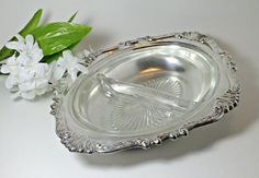 Sheridan Silver Plate Serving Dish with Divided by DinneratSeven