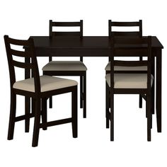 LERHAMN (IKEA Dining Sets up to 4 Seats) cm color:Black brown, vittaryd beige ( Furniture > Dining Furniture > Dining Table Chair > Dining Sets ) At Home Furniture Store, Modern Home Furniture, Kitchen Furniture, Affordable Furniture, Classic Furniture, Office Furniture, Desk And Chair Set, Table And Chairs, Dining Table