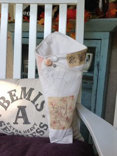 A personal favorite from my Etsy shop https://www.etsy.com/listing/253755193/shabby-chic-vintage-flour-sack-cone