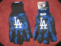 TWO (2) PAIRS OF LOS ANGELES DODGERS, ALL PURPOSE SPORT UTILITY GLOVES #LosAngelesDodgers