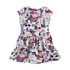 The new Bauhaus-style pieces from Tea Collection are TO DIE. Be still my little girl heart.  Lyrical Shapes Dress | Shapes get abstract in this colorful print designed just for Tea by Anna Niestroj (aka Blink Blink), a contemporary artist from Berlin.