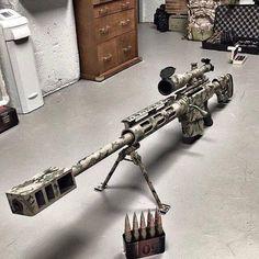 I want an airsoft version of this rifle, now! Military Weapons, Weapons Guns, Guns And Ammo, Big Guns, Cool Guns, Fire Machine, Airsoft, Custom Guns, Revolver