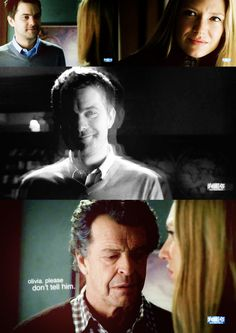 That moment Olivia knew the truth about Peter, & Walter begging her not to tell him. Season 2