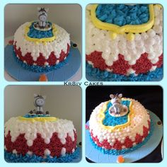 Carnival themed birthday smash cake