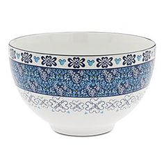 Mickey Mouse Icon Indigo Salad Bowl | Disney Store The Mouse moves uptown with an elegant indigo filigree dinnerware pattern detailed with hidden Mickey icons, just for the fun of it! Match this fine ceramic salad bowl with the entire collection, each item sold separately.