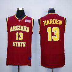Men's Arizona State #13 James Harden Red College Basketball Swingman Jersey