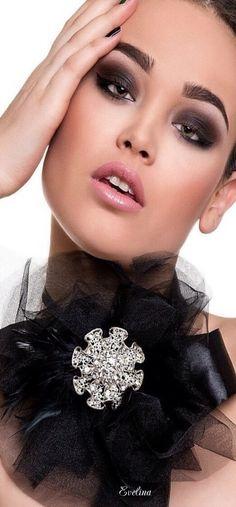 ~ Lady in Black ~ Black White Red, Black Silver, Black Swan, Black Onyx, Silver Color, Color Black, Ring Armband, Smoky Eyes, Black Magic Woman