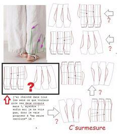 Fashion Pants, Diy Fashion, Fashion Dresses, Pants Pattern, Linen Dresses, Sewing Clothes, Pattern Making, Sewing Hacks, Clothing Patterns