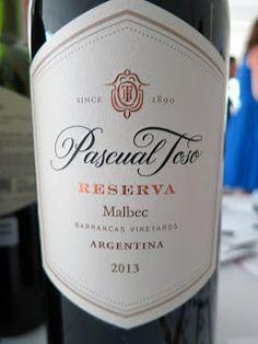 Pascual Toso Reserve Malbec 2013 - Barrancas Vineyards, Mendoza, Argentina (89…