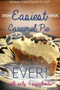 Caramel Pie made with 4 ingredients and in the crock pot?!? Yes, please!