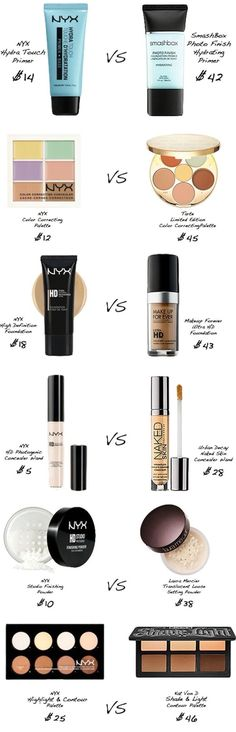 NYX Make Up Dupes