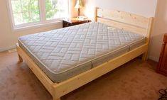 61 Ideas for wooden bedroom furniture design platform beds Bedding Master Bedroom, Bedroom Sets, Diy Bedroom, Trendy Bedroom, Lit Queen Size, Wooden Bedroom, Bunk Bed Designs, Diy Bed Frame, Bedroom Furniture Design