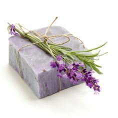 Natural homemade soap with lavender herb. Lavender Soap, Shampoo Bar, Home Made Soap, Royalty Free Images, Projects To Try, Decorative Boxes, Homemade, Stock Photos, Nature