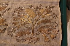 Gold embroidery on a shawl, probably Indian, from a Private Collection.