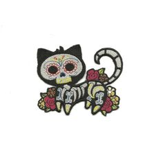 Skeleton Kitty Patch by PatchNation on Etsy