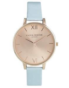 Olivia Burton Blue Big Dial Watch http://us.asos.com/Olivia-Burton-Blue-Big-Dial-Watch/12hlkq/?iid=3675536