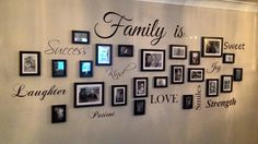 Family Picture Wall Art Quote Decal Sticker Sign