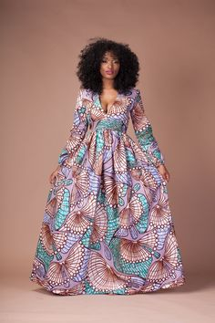 Here at Grass-fields we have an awesome range of African dress designs. Whether you're after an African print maxi or midi dress, we've got something for you. African Maxi Dresses, Latest African Fashion Dresses, African Dresses For Women, African Print Fashion, African Wear, African Attire, African Style, African Clothes, African Prints