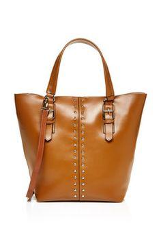 CHARLES JOURDAN Tan Leather Day Bag