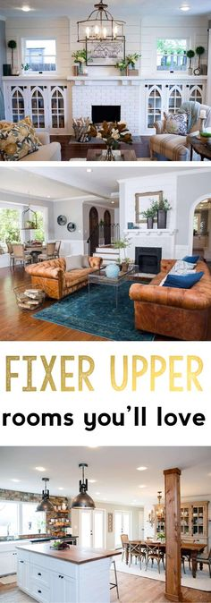 Master Bedroom Decorating Concepts - DIY Crown Molding Set Up Fixer Upper Fixer Upper Rooms Kitchens Living Rooms Dining Rooms Farmhouse Style Rustic Fixer Upper Spaces Chip Joanna Gaines Fixer Upper Living Room, Fixer Upper Kitchen, Living Room Kitchen, Dining Rooms, Kitchen Paint, Kitchen Decor, Farmhouse Remodel, Farmhouse Style Kitchen, Farmhouse Decor