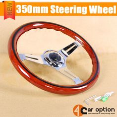 350Mm Steering Wheel With Black Trim Classic Wood Grain Sport Chrome Spokes | eBay Motors, Parts & Accessories, Car & Truck Parts | eBay!