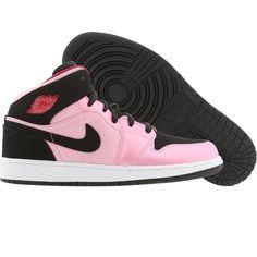 84a85b2a7aad98 Air Jordan 1 Mid Big Kids (ion pink   black   gym red   white) 555112-608 -   79.99